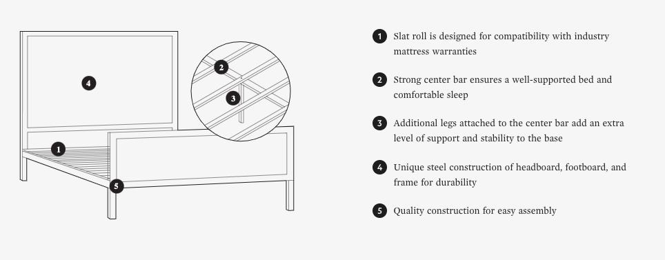 Clarke Designer Platform Bed