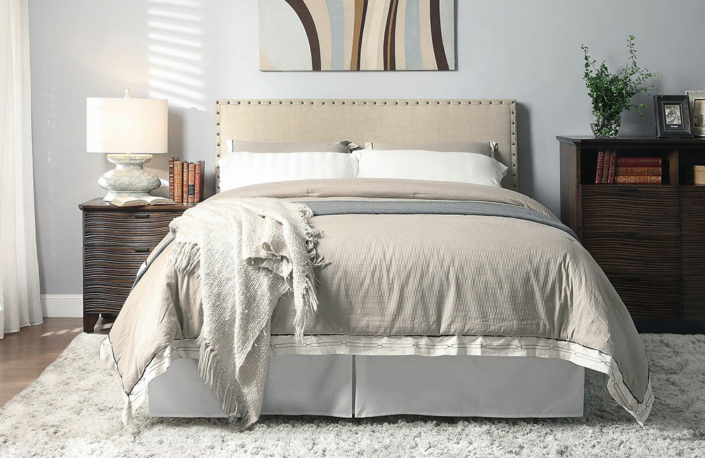 headboard & bed