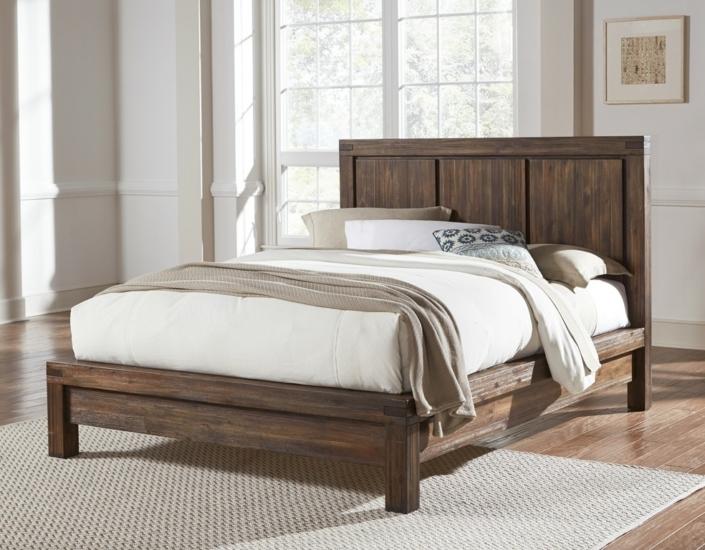 Meadow Platform Bed (Brick Brown)