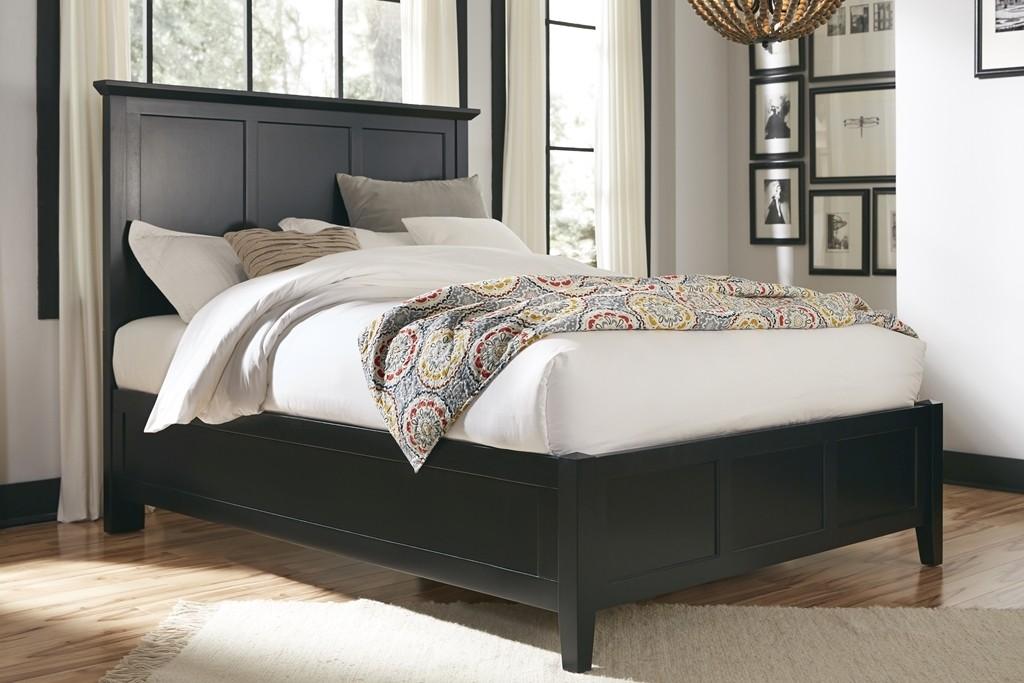 Black Panel Bed