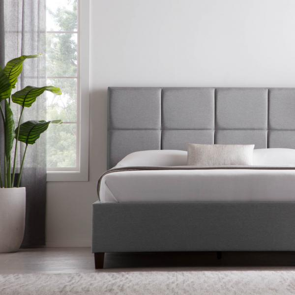 designer bed with headboard