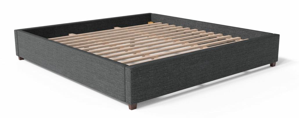 dark platform bed base